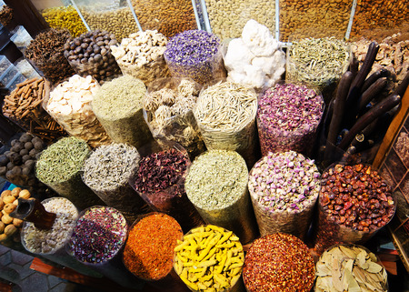 Spices in bazaar of Dubai, United Arab Emirates