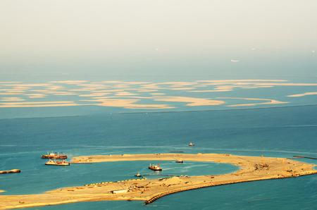 Dubai  United Arab Emirates   The World Islands  View from Burj Khalifa Stok Fotoğraf