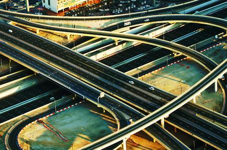 Verenigde Arabische Emiraten: Oversteken in Dubai Verenigde Arabische Emiraten Stockfoto
