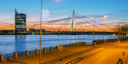 Riga  Latvia   in the evening   The view from St Peter s Church