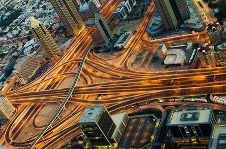 Crossing in Dubai  United Arab Emirates  at night