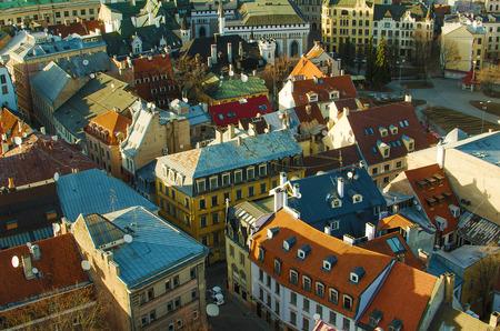 Riga  Latvia   in the evening