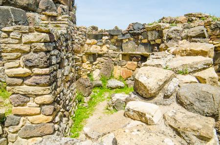 Su Nuraxi di Barumini in Sardinia, Italy   This historical place, dating from the seventeenth century BCE