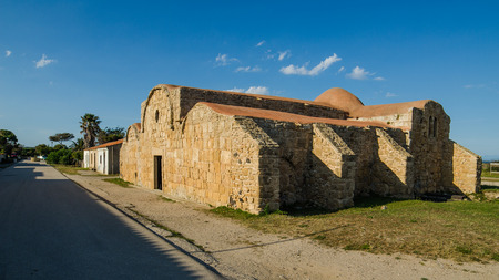 Catholic church in San Giovanni di Sinis, Sardinia, Italy Stock Photo - 28371365