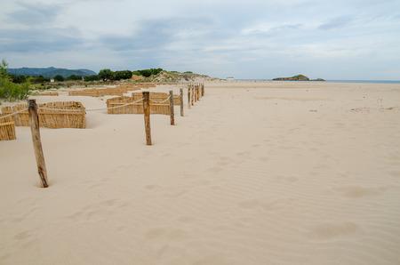 end of the trail: White sand beach of Chia, Sardinia, Italy