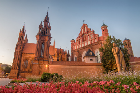 St Anne s and Bernadine s Churches in Vilnius, capital city of Lithuania