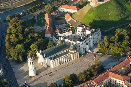 Cathedral square in Vilnius, Lithuania 스톡 콘텐츠
