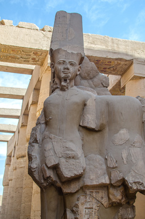 precinct: Ramesses II statue in the ancient Egyptian Precinct of Amun-Re at Karnak, Luxor in Egypt Stock Photo