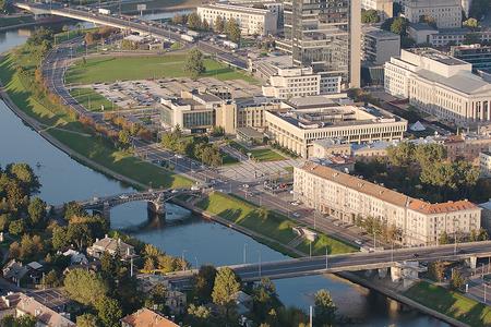 The Lithuanian Parliament Building in Vilnius Stock Photo