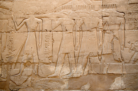 precinct: Detail of relief  on the wall in the Precinct of Amun-Re  (Karnak Temple Complex, Luxor, Egypt)