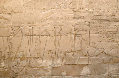 relievo: Detail of relief  on the wall in the Precinct of Amun-Re  (Karnak Temple Complex, Luxor, Egypt)