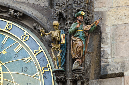 The Prague Czech Republic astronomical clock or Prague orloj