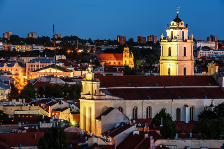 Sts. Johns Church in Old Town of Vilnius, Lithuania Stok Fotoğraf