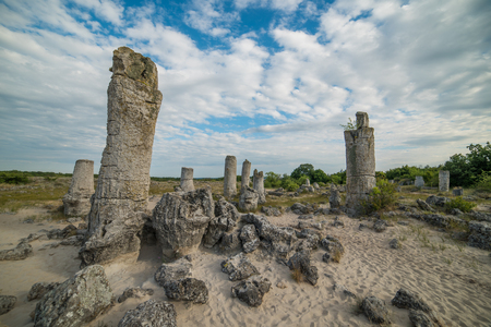 Stone Forest Pobiti Kamani next to Varna, Bulgaria