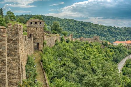castle buildings: Veliko Tarnovo, the historical capital of Bulgaria Editorial