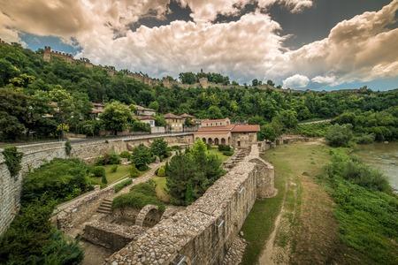 veliko tarnovo: Veliko Tarnovo, the historical capital of Bulgaria in the sunset