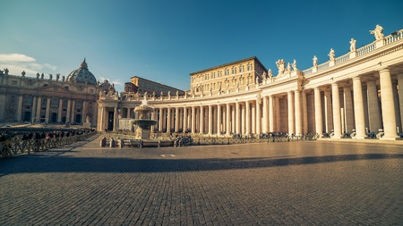 Vatican City and Rome, Italy: famous St. Peters Square