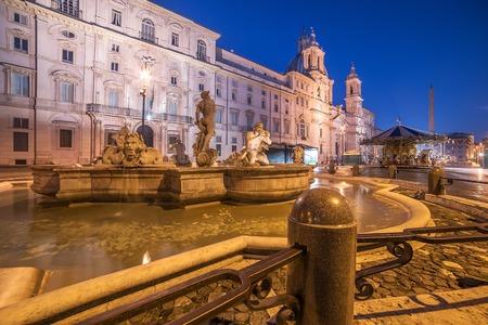 navona: Rome, Italy: Piazza Navona in the sunrise