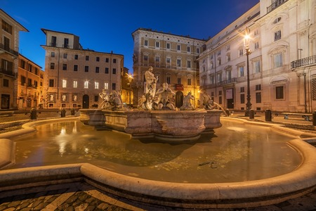 Rome, Italy: Piazza Navona in the sunrise