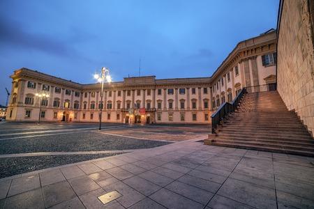 Milan, Italy: Piazza del Duomo, Cathedral Square in the sunrise Standard-Bild