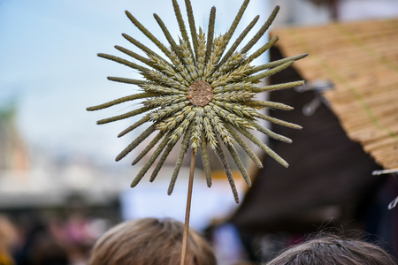 pinchbeck: Made-up flowers in the handicraft mart Kaziukas, Vilnius, Lithuania