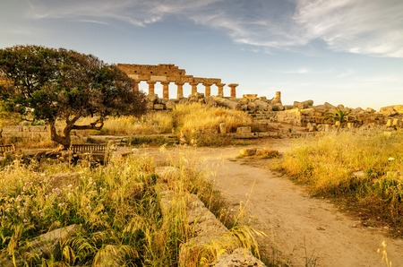 italian architecture: Sicily, Italy: Acropolis of Selinunte in the sunset