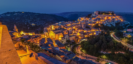 ragusa: Sicily, Italy: Ragusa Ibla in the evening