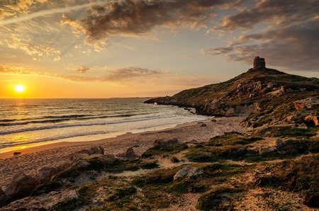 cloudscapes: Sardinia, Italy: San Giovanni di Sinis in beautiful sunset