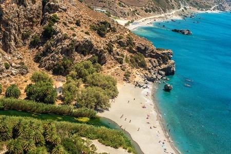 torrid: Crete, Greece: flat lay, top view of Palm Bay