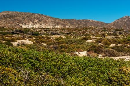torrid: Crete, Greece: landscape next to the beach in Elafonisi