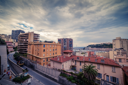 principality: Principality of Monaco: top view of the city