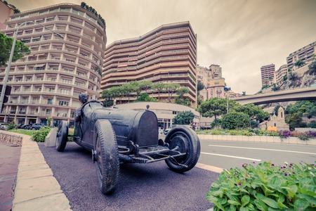 principality: Principality of Monaco: monument of racing car, grand prix
