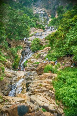 Sri Lanka: Ravana Ella Falls Stock Photo
