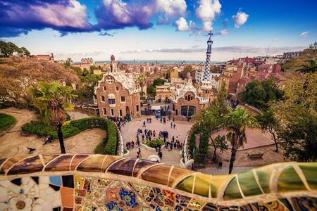 Barcelona, Catalonia, Spain: the Park Guell of Antoni Gaudi