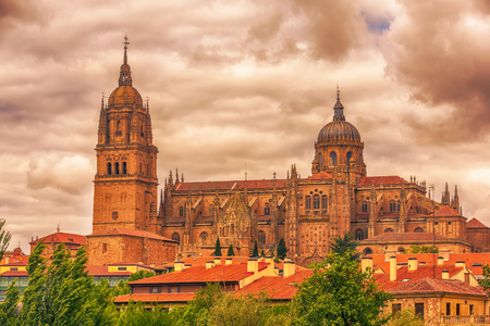 Salamanca, Spain: The New Cathedral, Catedral Nueva Stock Photo