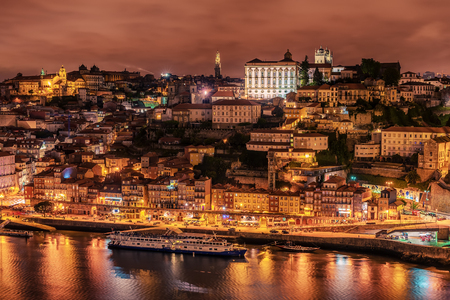 Porto, Portugal: aerial view of the old town and Douro river