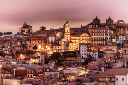 Porto, Portugal: aerial view of the old town