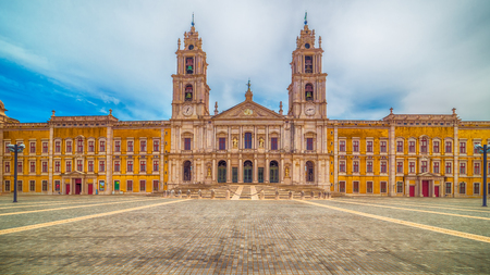 Portugal: the Royal Convent and Palace of Mafra, baroque and neoclassical palace – monastery Stock Photo