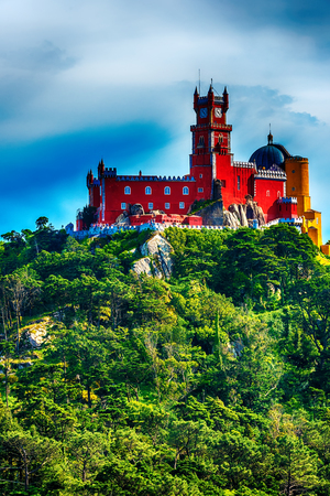 intra, Portugal: Pena Palace, Palace da Pena, romanticist summer residence of the monarchs of Portugal