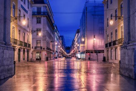 리스본, 포르투갈 : Rua de Augusta, Augusta street 스톡 콘텐츠