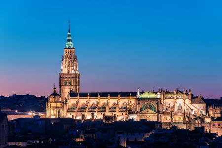 mancha: Toledo, Spain: the Cathedral Stock Photo