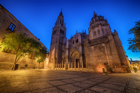 Toledo, Spain: the old town and the Cathedral Squere