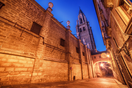 Toledo, Spain: the old town and the Cathedral