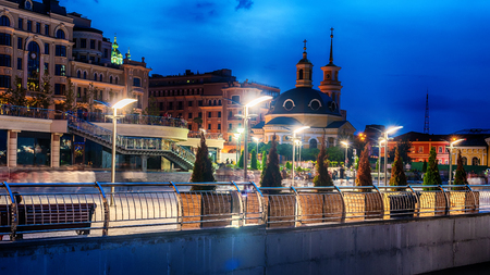 Kiev or Kiyv, Ukraine: night view of the city center in the summer Reklamní fotografie