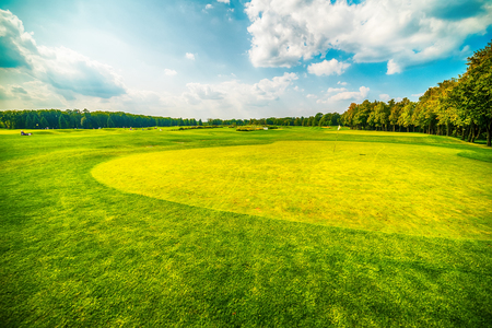 Kiev, Kiyv, Ukraine: he golf field inthe Mezhyhirva Residence situated on the banks of the Dnieper river  of former pro-russian Prime Minister and President Viktor Yanukovych, now a museum