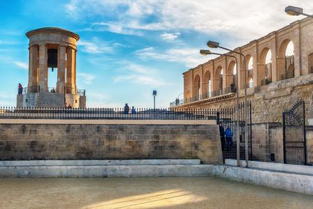 Valletta, Malta: Siege Bell Memorial in the morning