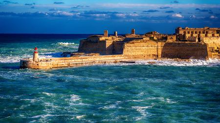 Malta: Fort Ricasoli, the view from Valletta