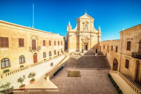 Victoria, Gozo island, Malta: Cathedral of the Assumption in the Cittadella, also known as Citadel, Castello Stock fotó
