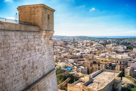 Victoria, Gozo island, Malta: aerial view from the Cittadella, also known as Citadel, Castello
