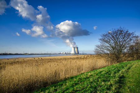 nuclear power station: Doel Nuclear Power Station in  Antwerp, Belgium